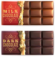 Chocolate Bars Set vector image