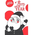 Christmas with funny Santa vector image