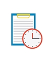 clipboard document with business icon vector image vector image