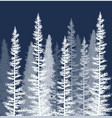 coniferous trees covered with snow vector image