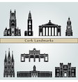 Cork landmarks and monuments vector image vector image