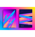 creative design poster with vibrant gradients vector image vector image