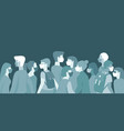 croud various people in protective medical vector image