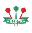 Darts label Badge Logo Darts sporting symbols vector image