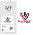 eagle bird logo template with business card design vector image vector image