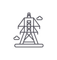 electric lines line icon concept electric lines vector image vector image