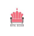 Furniture logo sofa interior design creative vector image