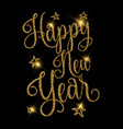 gold glittery happy new year design vector image vector image