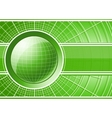 Green background with globe vector image vector image