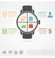 hand clock infographic vector image vector image