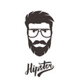 hipster portrait in glasses stylish man vector image