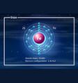 iron atom diagram concept vector image