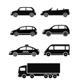 isolated cars set vector image