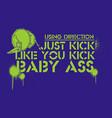 kick vector image vector image