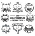 logo collection set with elephant theme vector image vector image