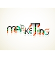 Marketing word font concept vector image vector image