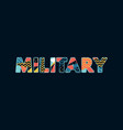 military concept word art vector image vector image