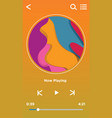 music player interface ui design vector image vector image