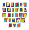 new font cut colorful letters upper case vector image vector image