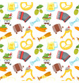 octoberfest seamless pattern vector image vector image