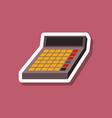 paper sticker on stylish background economy vector image vector image