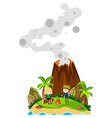 people camping out on island vector image