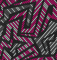 pink tribal geometric seamless pattern vector image vector image