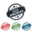 Round Los Angeles stamp set vector image vector image