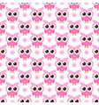seamless pattern with pink owls vector image vector image