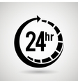 service 24 hours design vector image