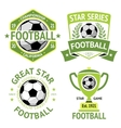 set green vintage football labels vector image vector image
