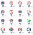 set light bulb idea icons vector image vector image