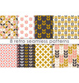 set of floral seamless pattern in scandinavian vector image vector image