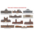 Set of isolated education buildings university