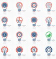 set of light bulb idea icons vector image vector image