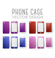 set of phone cases vector image vector image