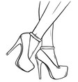 sexy legs with black high heels vector image