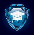 shield insurance vector image vector image