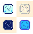 smart thermostat icon set in flat and line style vector image vector image