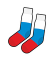 Socks Patriot of Russia Clothing accessory Russian vector image vector image