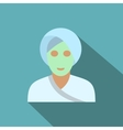 Spa facial clay mask flat icon vector image