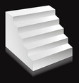 stairs or staircases and podium ladder vector image vector image