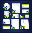 stationary templates design vector image vector image