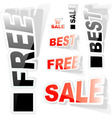 Sticker set for sale vector | Price: 1 Credit (USD $1)