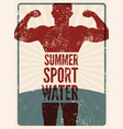 summer sport typographic vintage grunge poster vector image vector image