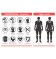 symptoms and signs fibromyalgia tender points vector image