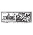 the state banner of mississippi the bayou state vector image vector image