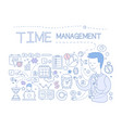 time management set hand drawn business planning vector image