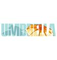 Umbrella sign vector image vector image