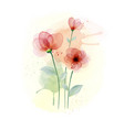watercolor hand painted with colourful flower vector image vector image